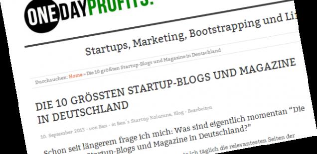 Die 10 größten Startup-Blogs in Deutschland